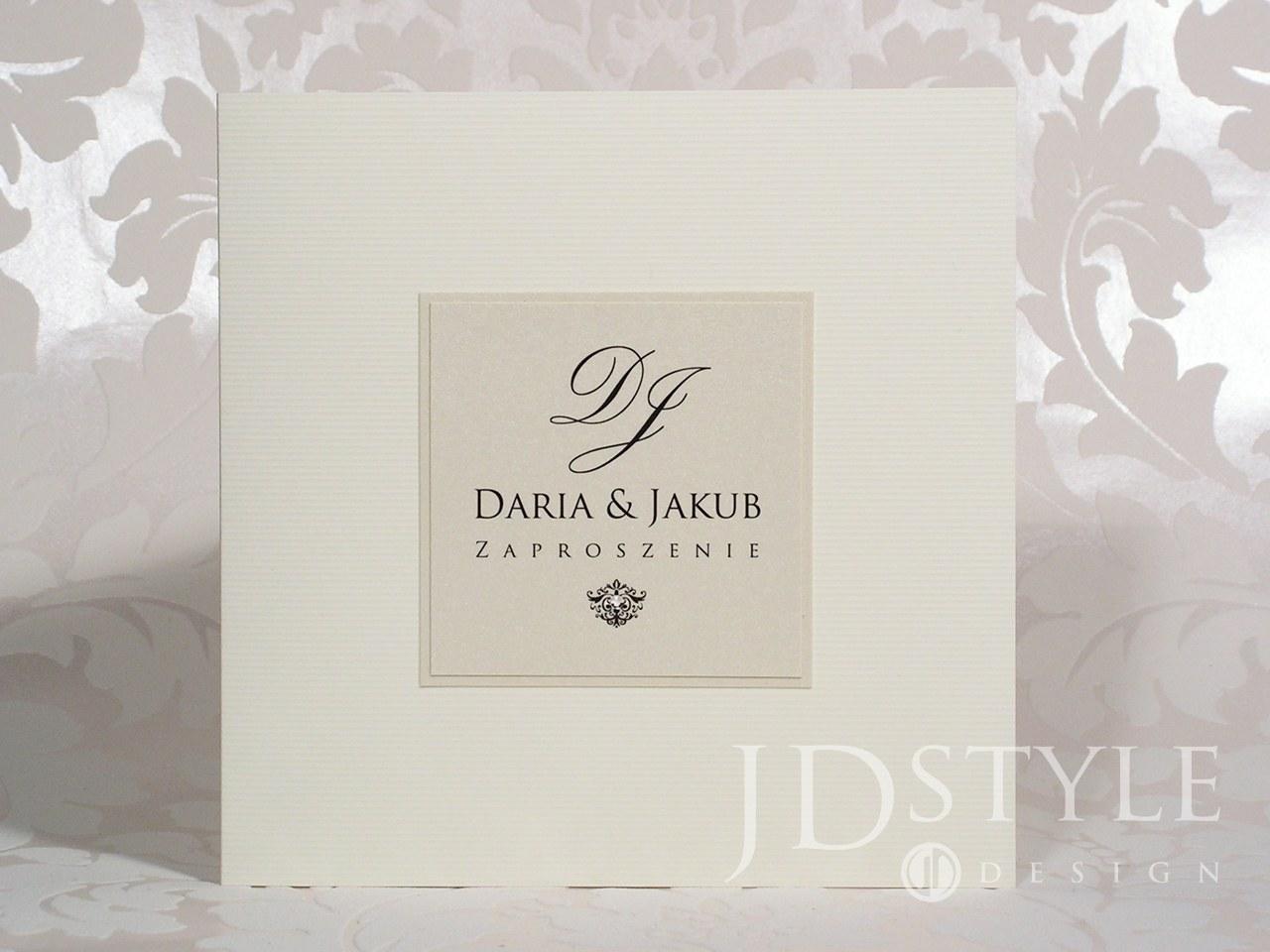 JDStyle - zaproszenie na ślub