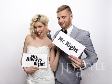 Tabliczki Mr. Right/Mrs. Always Right!, 1op.
