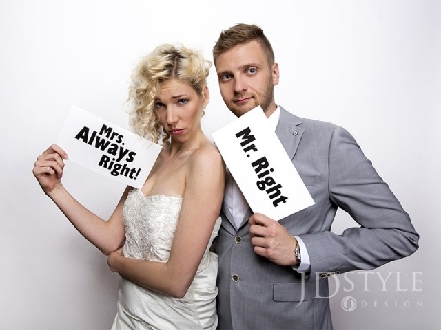 Tabliczki Mr. Right/Mrs. Always Right!, 1op. do foto
