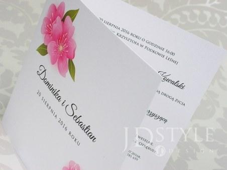 Zaproszenia Na ślub Kwiatowe Różowa Eustoma Fl 20 Flower