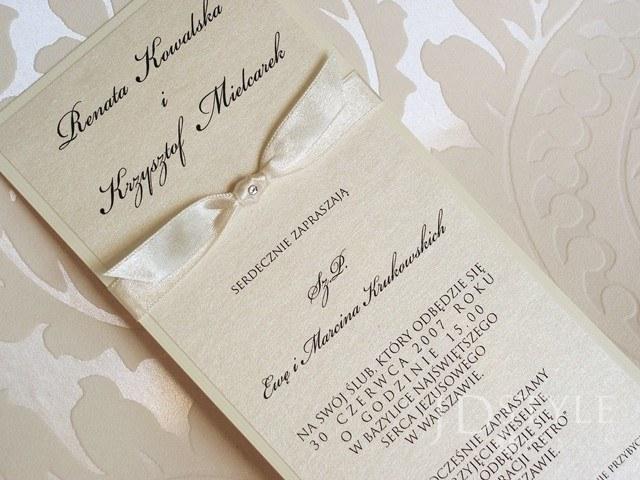 Zaproszenia ślubne Elegant dl EL-06