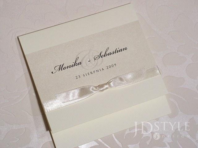 Zaproszenia ślubne Elegant Kwadratowe El 11 Elegant Zaproszenia