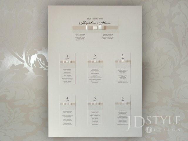 Plan stołów weselnych z papierem w różyczki SM-PS