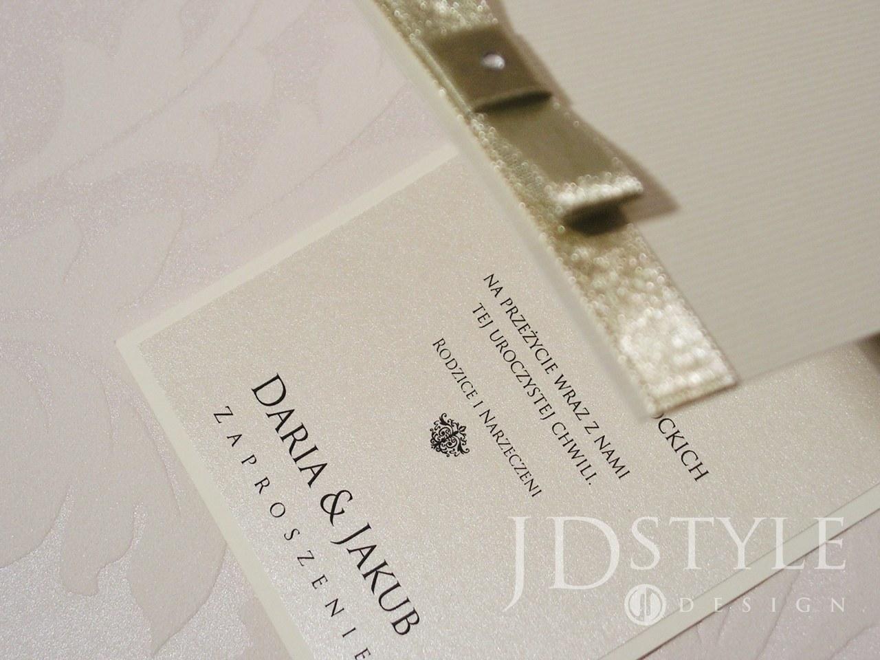 Eleganckie zaproszenia Royal otwierane do góry