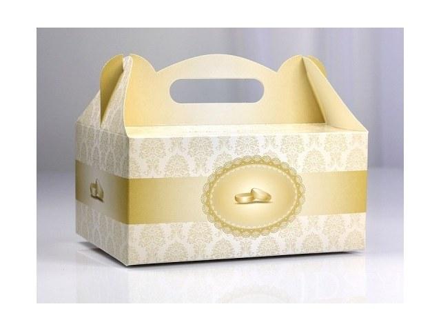 Pudełka na ciasto obrączki ślubne PUDCS12