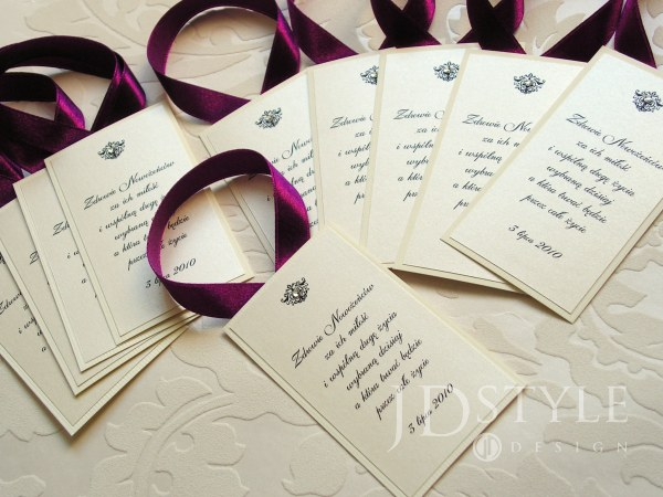 Zaproszenia ślubne Zawiadomienia I Dodatki Weselne Jdstyle